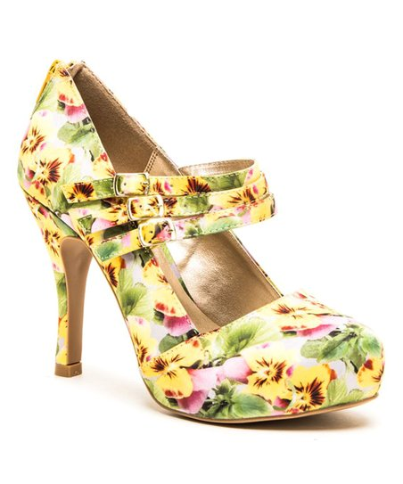 3107e8aabc love this product Yellow Floral Trench Pump - Women