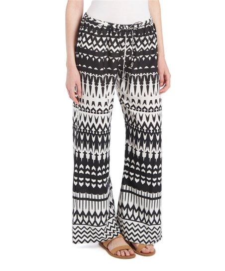 801f9ff4a0 love this product Black & White Geometric Beach Pants