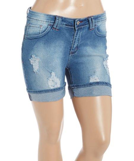 04ed2978f6a Be Girl Clothing Indigo Distressed Denim Shorts - Plus
