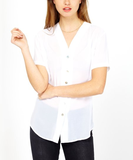 2bf0094b9 love this product White Sheer Button-Up Top - Women