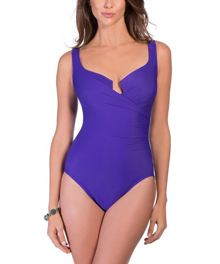 aec2b64db044c Miraclesuit Eggplant Must Have Escape One-Piece