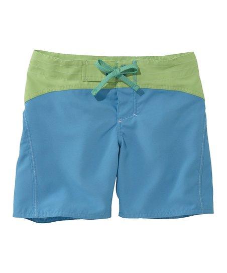 b69e1b47d0 L.L.Bean Cerulean Blue Sun & Surf Shorts - Girls   Zulily