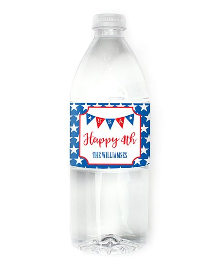 Chickabug 4th of July Bunting Waterproof Labels - Set of 15