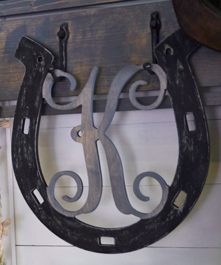 Unfinished Wood Co Initial Horseshoe Wall Décor