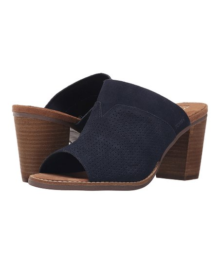 eeada56791e love this product Navy Perforated Suede Majorca Mule