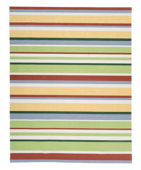 Plow Hearth Stripe Carnival Outdoor Rug Zulily