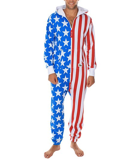 f3ef7967f8bb Tipsy Elves Blue   Red American Flag Jumpsuit - Men