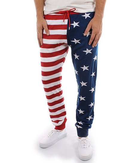 8179a08849ca7 Tipsy Elves Red & Blue American Flag Sweatpants | Zulily