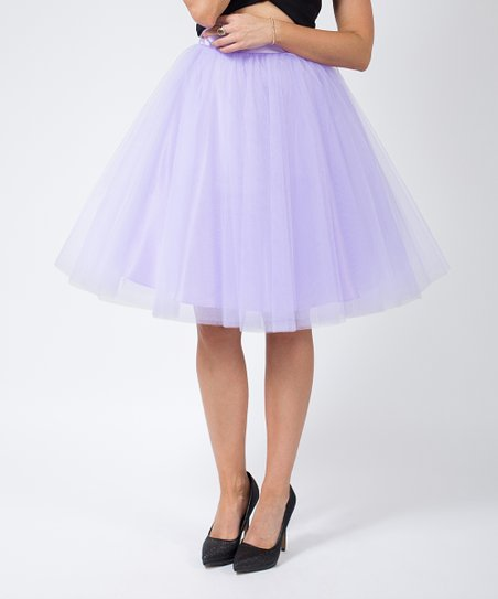 c98ec488c Space 46 Boutique Lilac Signature Tulle Skirt | Zulily