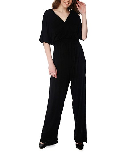 1dda8adee27 True Love Collection Black Cape-Sleeve Jumpsuit