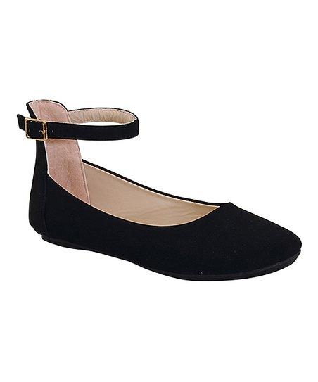 Belladia Black Bazar Ankle-Strap Ballet