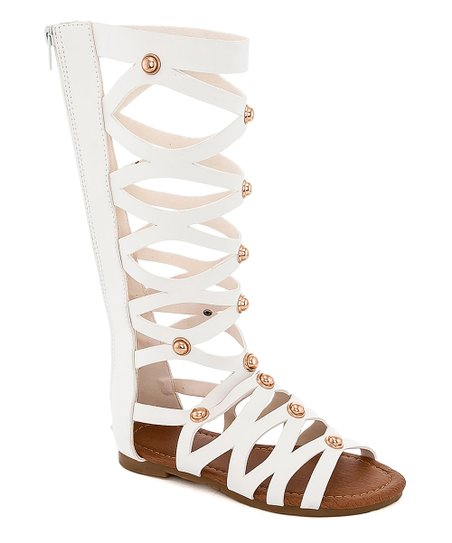 3f7cab7fd0c love this product White Gladiator Sandal - Girls