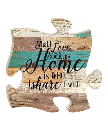 P Graham Dunn Wood About My Home Puzzle Piece Wall Decor Zulily