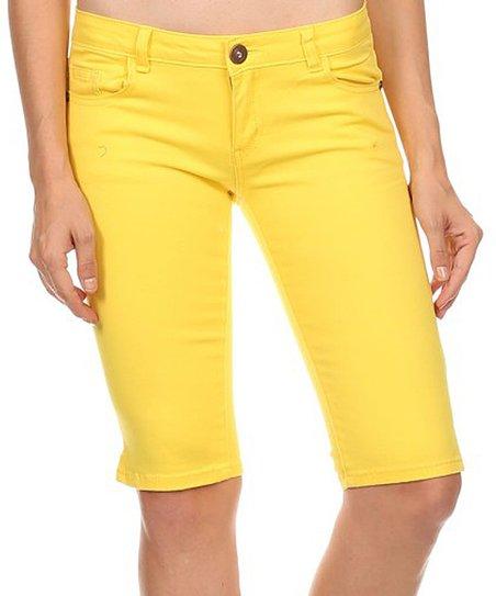 5595a205d6f8d love this product Yellow Imperial Premium Bermuda Shorts - Juniors