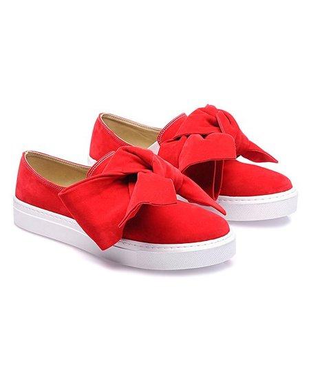 Bow Red Bow Slip-On Sneaker - Women