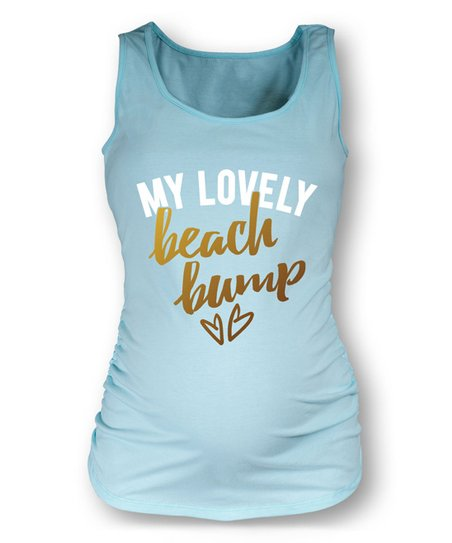 59ccf1c970 love this product Mint 'My Lovely Beach Bump' Maternity Tank