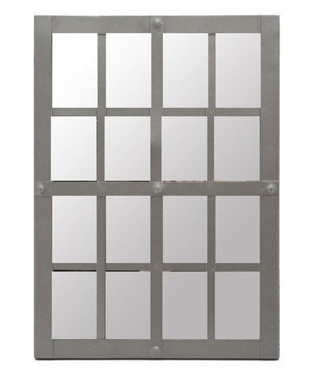 gray window pane riveted mirror zulily