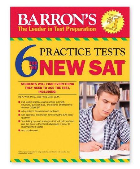 Barron's Educational Books 6 New SAT Practice Tests Workbook