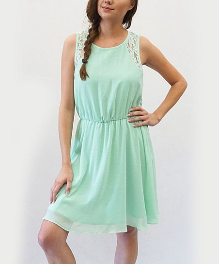 615ec0a21949 love this product Mint Green Fit   Flare Dress