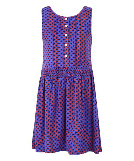 51edcf8fe945 Richie House Purple   Pink Hearts Sleeveless Dress - Girls