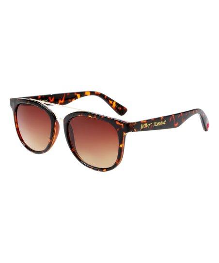 bac8faf6902 Betsey Johnson® Tortoise Metal-Trim Square Sunglasses