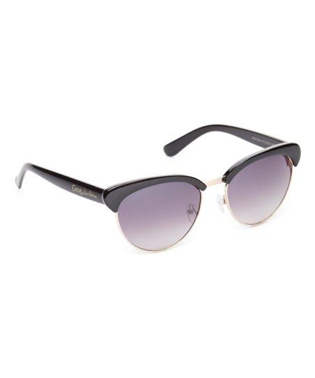 e3c28be1a2c0 Circus by Sam Edelman Black   Gold Browline Sunglasses