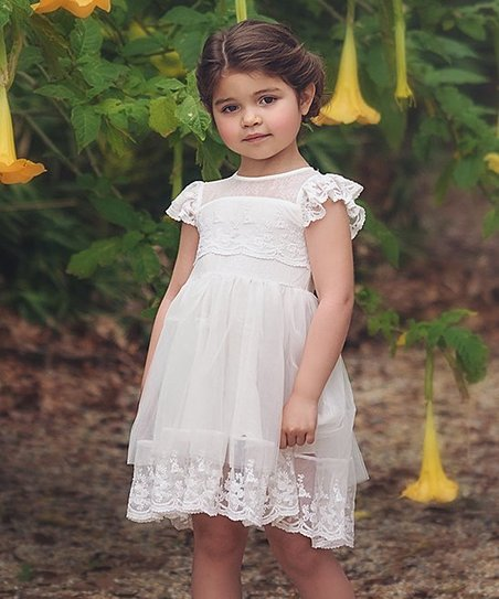 d54b05eea5 Trish Scully Child White Leilani Dress - Girls