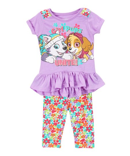 28cc84c814567 love this product PAW Patrol Purple 'G'rl Power' Top & Leggings - Toddler