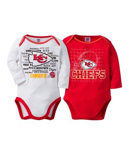 separation shoes 765d4 82a95 Gerber Childrenswear Kansas City Chiefs Two-Piece Long-Sleeve Bodysuit Set  - Infant