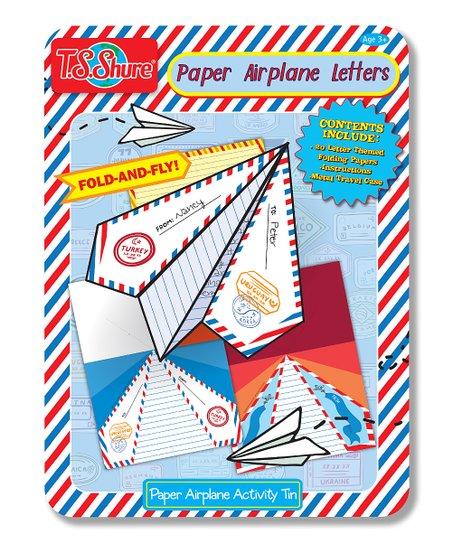 T S  Shure Letter Paper Planes Tin Set