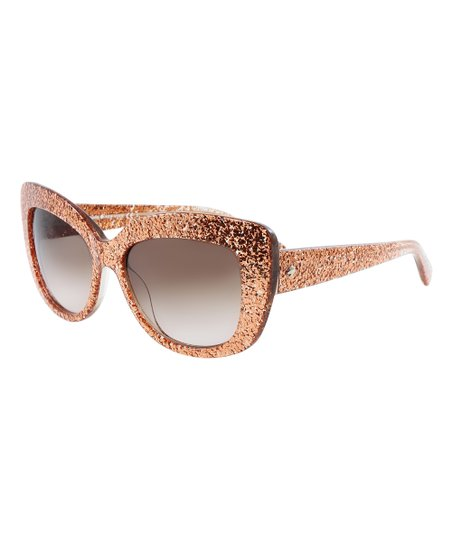 49186a917bf love this product Rose Gold Glitter Ursula Sunglasses