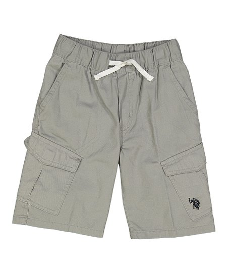 U S Polo Assn Medium Gray Logo Cargo Shorts Toddler Zulily
