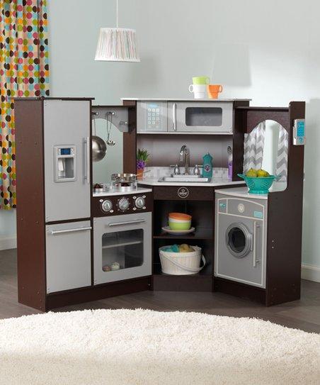 KidKraft Espresso Ultimate Corner Play Kitchen