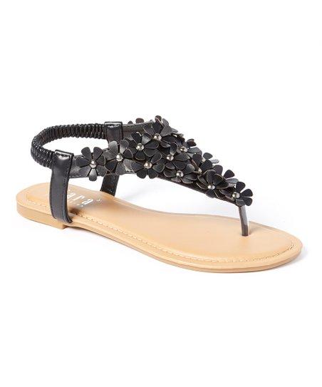 34f6afb0dc27 Tiara Black Rio Embellished Sandal