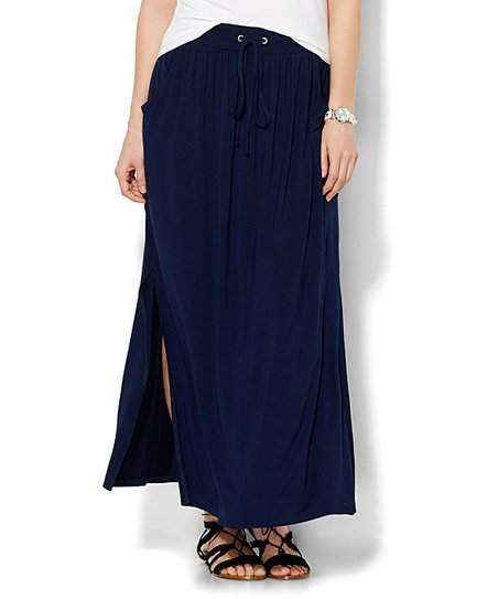 New York Company Grand Sapphire Double Slit Maxi Skirt Women