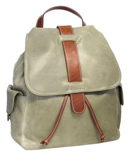 Nino Bossi Handbags Sea Foam Cape Cod Leather Backpack  bbb9386ab2a91