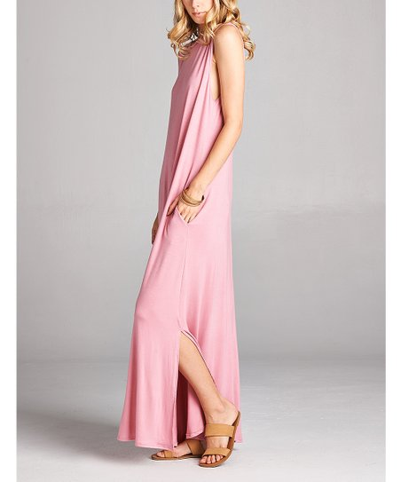 7127231f346 love this product Dusty Pink Pocket Sleeveless Maxi Dress