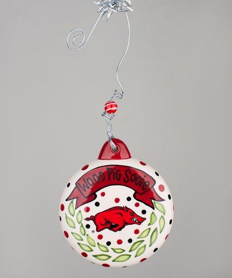 Arkansas Razorbacks Puff Ornament - Arkansas Razorbacks Puff Ornament Zulily