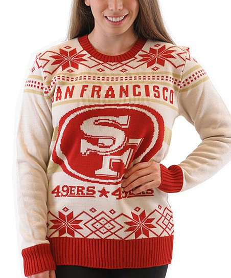 Costume Agent San Francisco 49ers Ugly Christmas Sweater Adult
