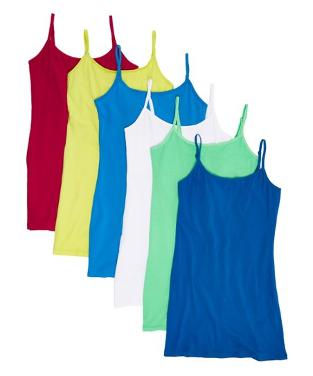 c569a1cd84b9aa JDF Designs Bright Shelf-Bra Adjustable-Strap Camisole Set