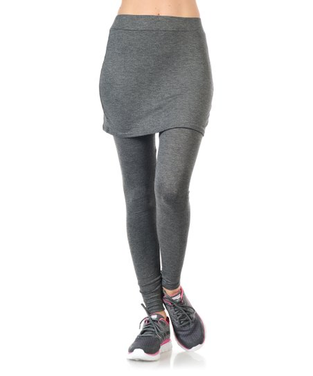 Magic Fit Heather Gray Skirted Leggings Women Zulily