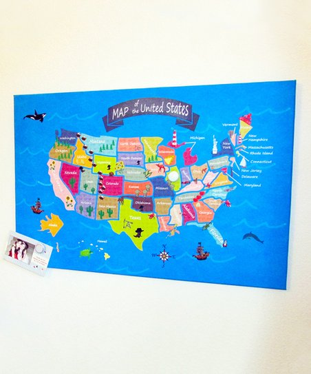 Kids Usa Map.Home Magnetics Kids Usa Map Magnetic Bulletin Board Zulily