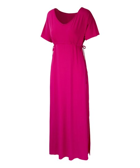 e1966cbdc5 UV Skinz Hot Pink UPF 50+ Maxi Cover-Up - Women & Plus | Zulily