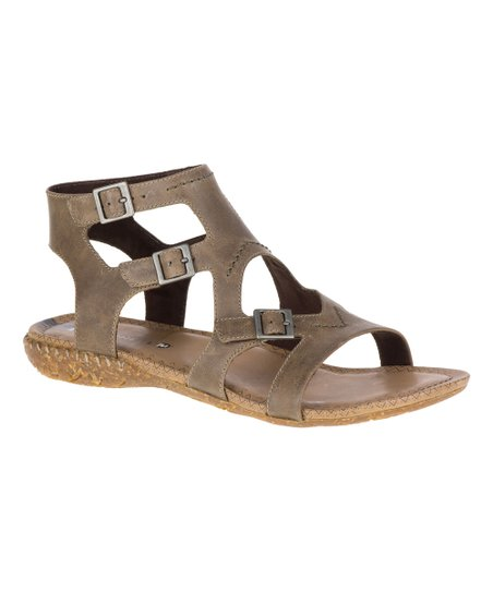 52f2bd82c28 love this product Taupe Whisper Buckle Leather Sandal