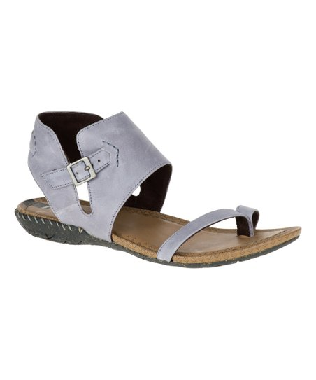 7c382f7b13a love this product Dusty Blue Whisper Post Leather Sandal
