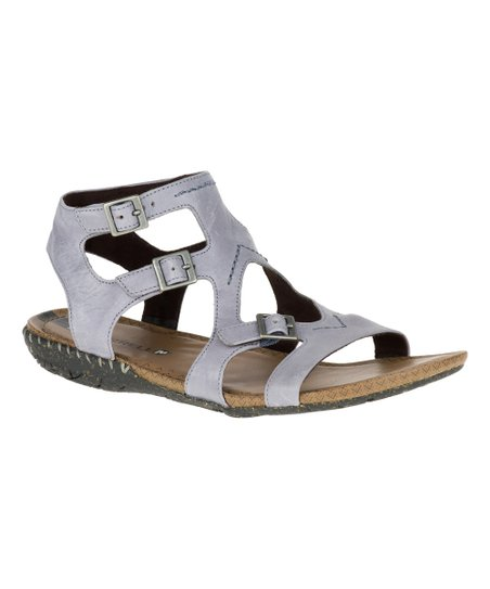 8c539fec351 love this product Dusty Blue Whisper Buckle Leather Sandal