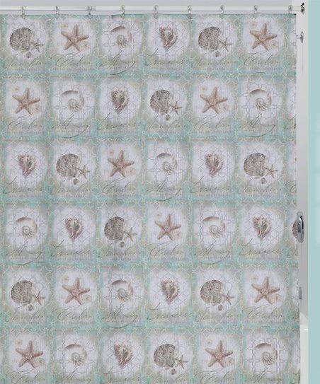 Love This Product Aqua Seashells Shower Curtain
