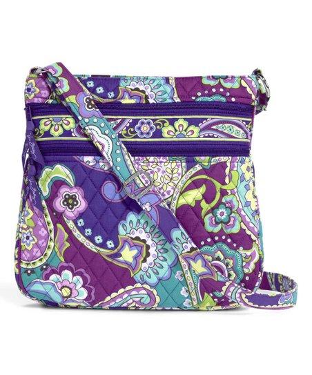 0f98759474 Vera Bradley Heather Triple-Zip Hipster Crossbody Bag