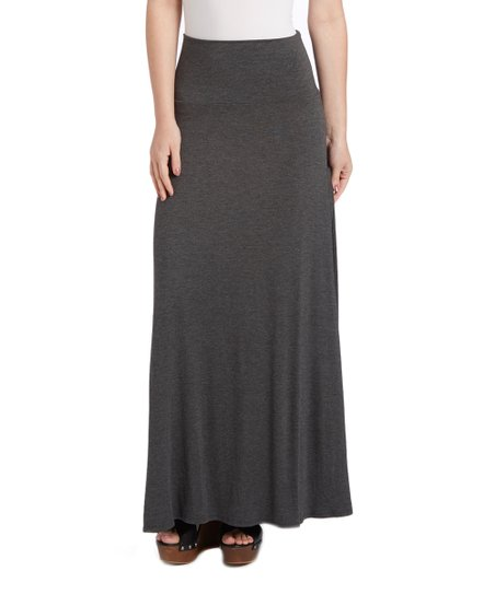 super cheap compares to uk cheap sale retro Chi Chi Charcoal Gray Maxi Skirt - Women