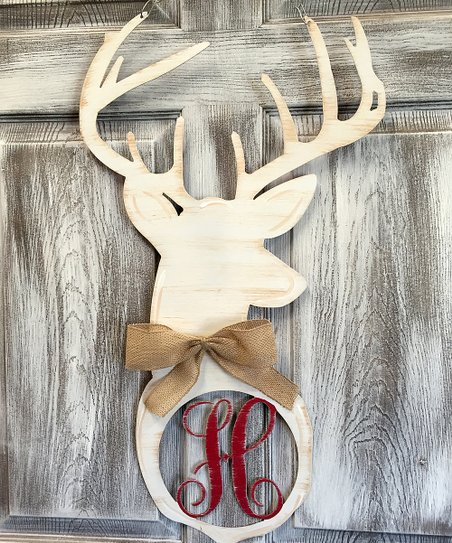 Steel Southern Designs White Deer Head Initial Door Hanger Best Price And Reviews Zulily